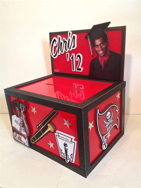 how to make a graduation card holder box musing with marlyss graduation centerpiece gift card box
