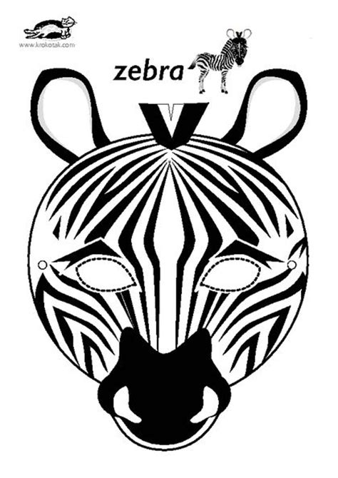 free printable zebra mask template 17 best images about carneval on pinterest free
