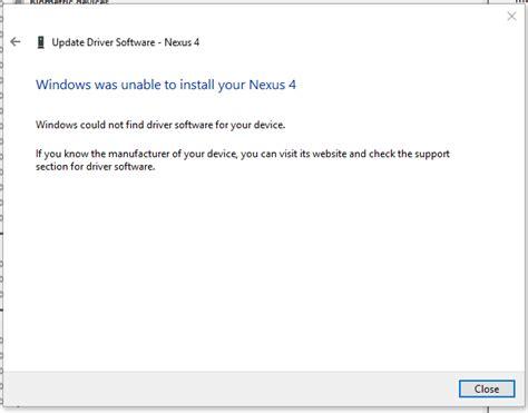 asus nexus 7 usb device not recognized usb nexus 4 not recognized on windows 10 user