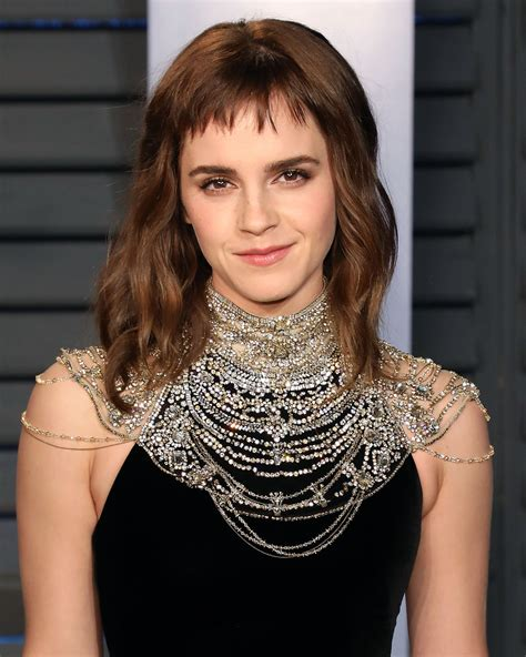 emma watson hair at the 2018 oscar awards popsugar beauty