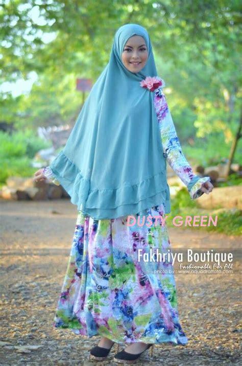 Baju Muslim Pasangan Azzura 335 34 Dan 335 35 fatimah dusty green baju muslim gamis modern
