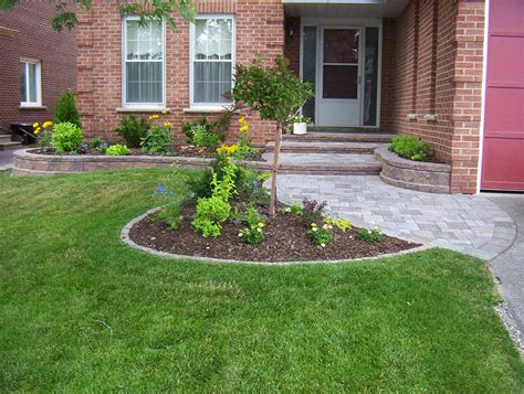 Garden Entrance Ideas Front Entrance Landscaping Front Yard Landscaping Interlocking Brick Exterior Entry