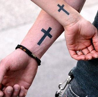 latin cross tattoos matching cross wrist tattoos tattooimages biz
