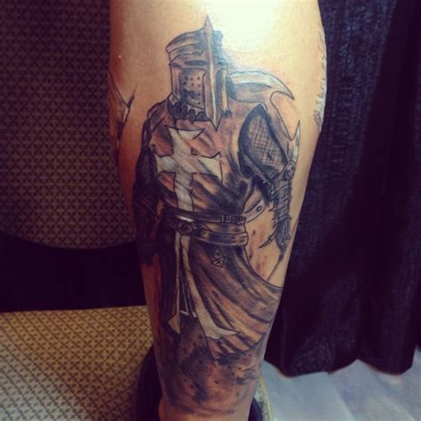 knight times tattoo templar done by oliver kalkofen tattoos