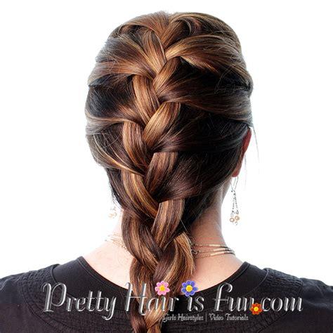 self braiding pretty hair is fun how to french braid your own hair