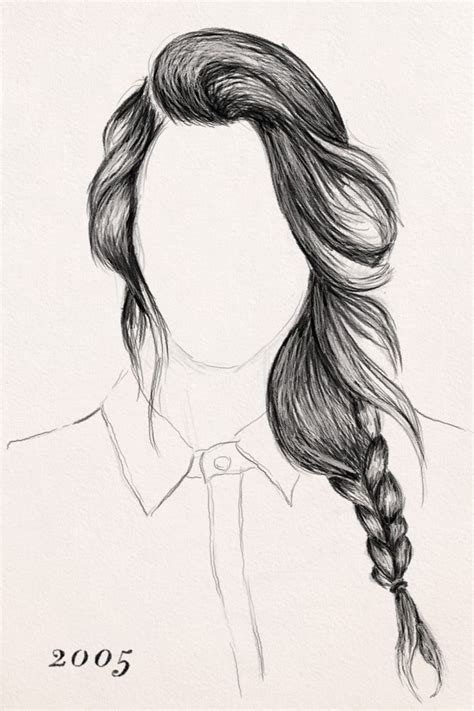 drawing hairstyles braid the gallery for gt braided hair sketches