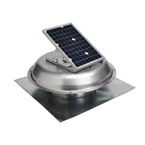 attic power vent fan master flow 500 cfm solar powered roof mount exhaust fan