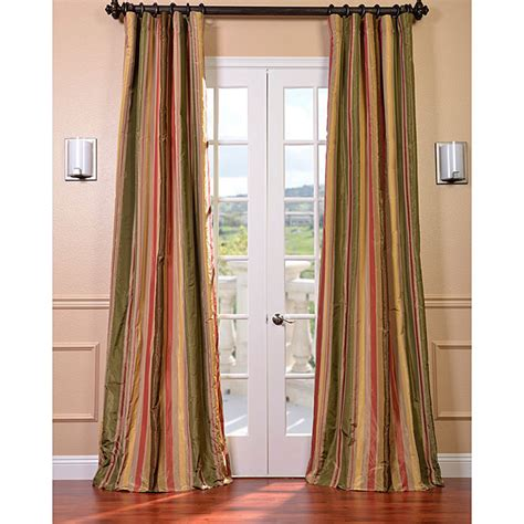 faux taffeta curtains signature stripe mirage faux silk taffeta curtain panel