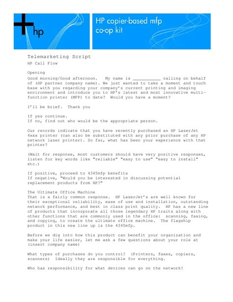 best telemarketing scripts telemarketing script