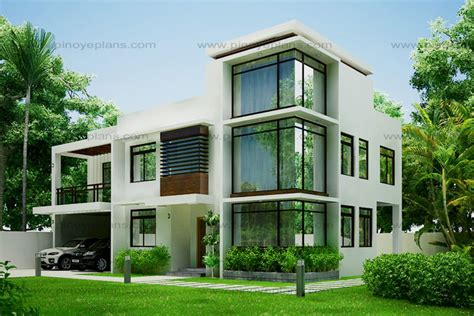Modern House Plans Designs Modern House Design 2012002 Eplans