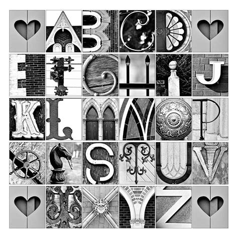 printable letters made out of objects letter art a smith of all trades