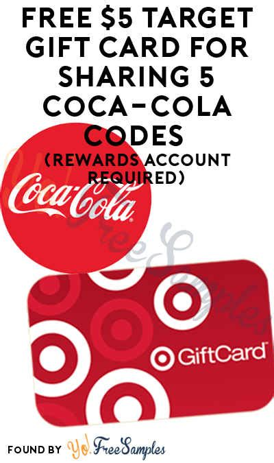 Target Pers Gift Card - free 5 target gift card for sharing 5 coca cola codes rewards account required yo