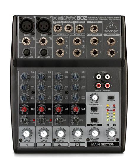 Mixer Xenyx 802 behringer xenyx 802 mixer gearnuts