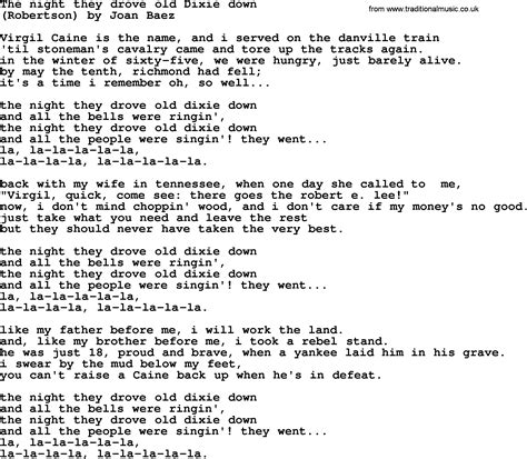 Dixie Lyrics