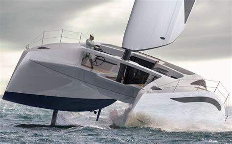 catamaran sails design zero sail concept sailing catamaran features modern racing