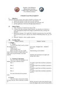 singapore math lesson plan template a detailed lesson plan in iv