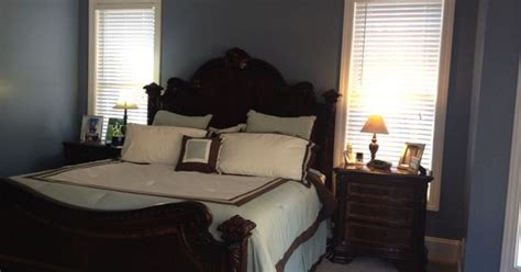 painted  master bedroom love  paint color behr bleached denim   home