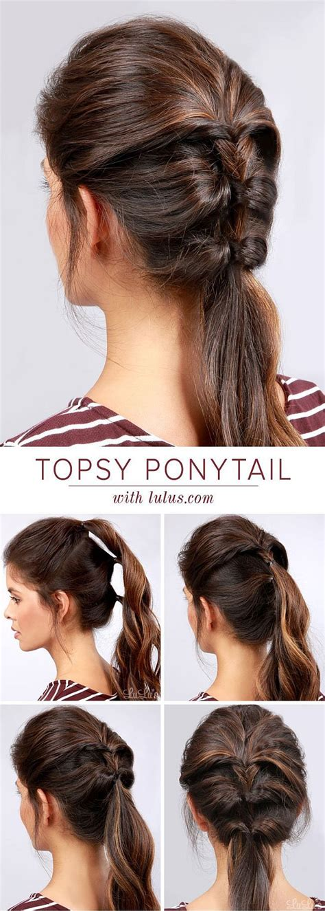 7 And Easy Hairstyles by Topsy Ponytail Topsy Ponytail Hair Lovehair Easy