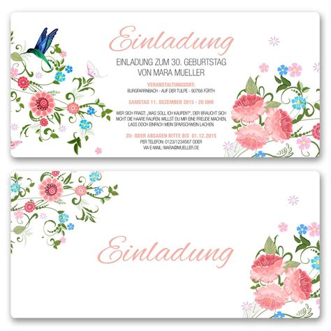 Einladungskarten Hochzeit Blumen by Einladungskarten Blumen Ab 55 Cent Einladung