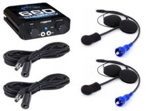 Helm Kyt Two Vision 2 place helmet kit intercom system