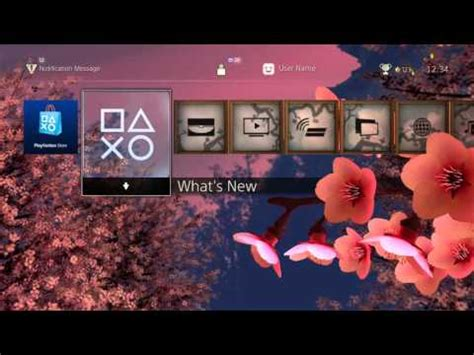 free ps4 themes reddit video cherry blossom dynamic theme changes based on
