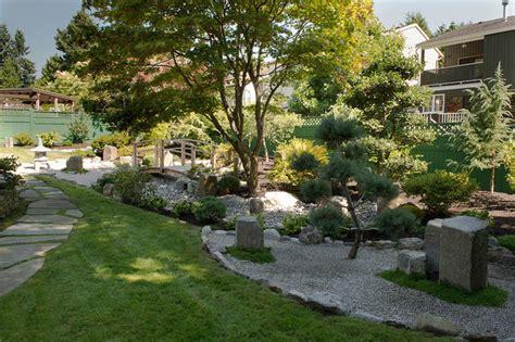 backyard zen garden asian landscape vancouver by