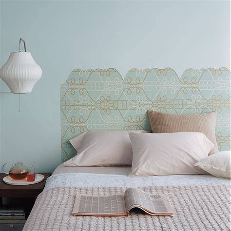 Wallpaper Headboards by Surprising Ways To Use Wallpaper Martha Stewart