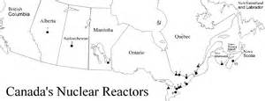 nuclear power plants in canada map
