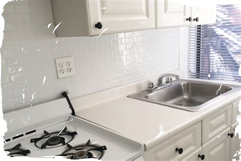 peel and stick subway tile backsplash before after these subway smart tiles are peel stick