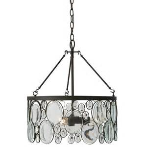 Chandelier With Drum Shade Shop Allen Roth Grelyn 17 99 In Aged Bronze Single Clear