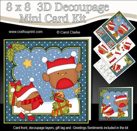 3d Decoupage Picture Kits - 8x8 bobbin robin presents mini kit 3d decoupage