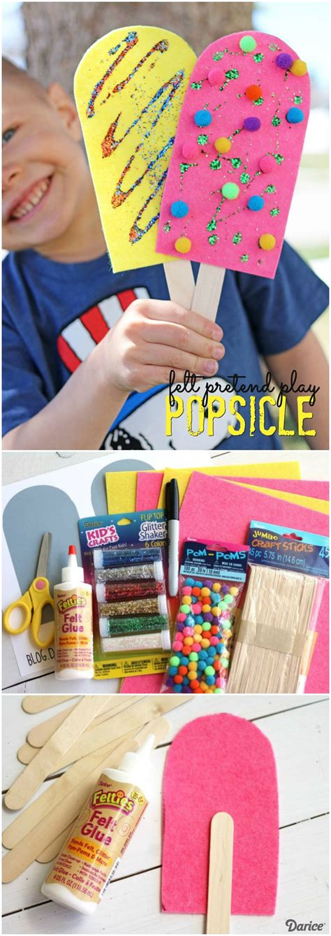 summer themed crafts for popsicle craft for pretend play darice crafting
