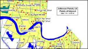 louisiana points of interest map jefferson parish consolidated plan executive summary