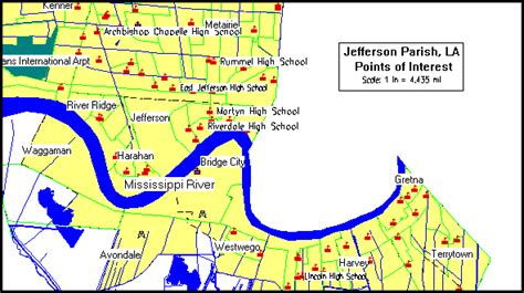 louisiana points of interest map jefferson parish consolidated plan executive summary