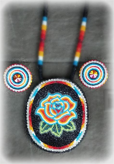 beaded medallion patterns beaded medallion and earrings set quot designed by shanna quot on
