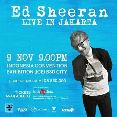 Ed Sheeran Jakarta Date | ed sheeran indonesia edsheeranid twitter