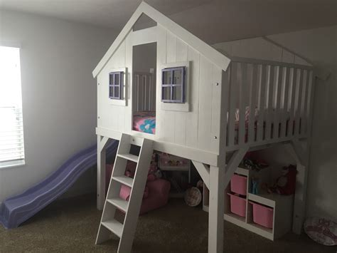 clubhouse bunk bed ana white clubhouse bed full size with slide diy projects
