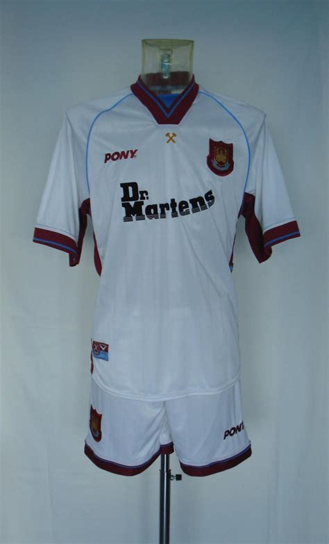 Dr Martens West Ham United Tees west ham united away football shirt 1998 1999 sponsored