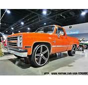 Hugger Orange Chevrolet Silverado Shortbed On 26 Iroc Wheels
