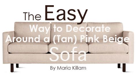 the easy way to decorate around a pink beige sofa killam the true colour expert