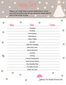 Free Printable Bridal Shower Templates by Free Printable Honey Do S For Bridal Shower
