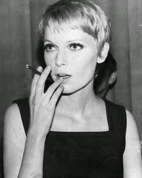 mia farrow pixie cut in 1960s 30 beautiful portraits of mia farrow with pixie haircut in