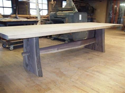 made black walnut live edge slab table by woodrich
