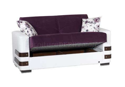 purple microfiber couch safir sofa bed in purple microfiber by rain w optional items