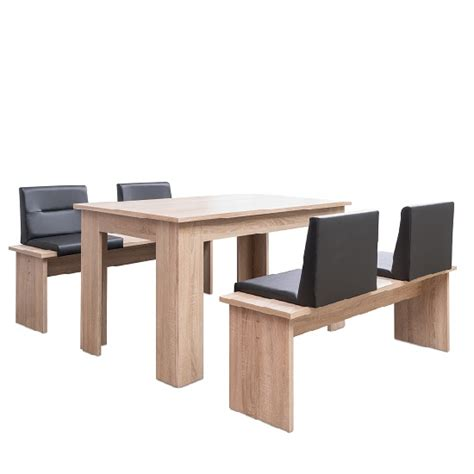 sonoma oak dining table munich dining table in sonoma oak and dining benches with