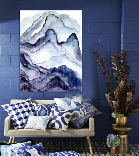 great paintings for living room ᗚmodern scenery abstract painting painting painted watercolor mauve mountain scenery
