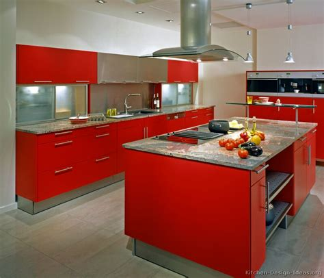 red kitchen ideas pictures of kitchens modern red kitchen cabinets