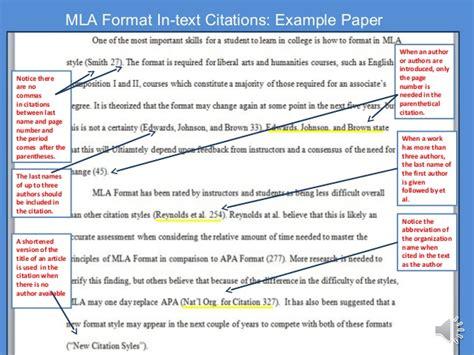 Essay In Text Citation Mla by Mla Citation Newspaper