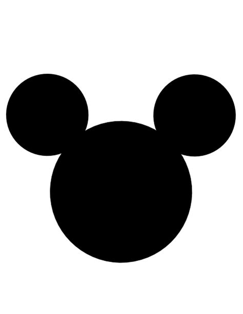 mickey mouse head template clipart best