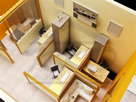 layout ruang kerja kantor kusuma kreasi desain partisi interior kantor mungil